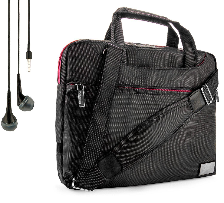 NineO Sport Nylon Shoulder Bag Carrying Case For Gigabyte S10, S1082 10.1-inch Tablet + Handsfree Earphones