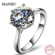 Fashion Simulated Sapphire 925 Sterling Silver Rings with Bling Diamond R1010