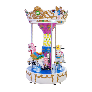 3 seats mini modern amusement park rides children carousel kiddie rides for sale