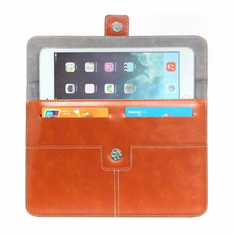 Bussniess Style Leather Case 8-10 Inch Portable Tablet Bag Case for iPad Tablet Bag with Card Slot