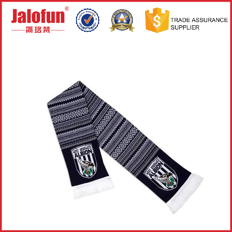 Cheap factory price digital printing cashmere scarf for football fan