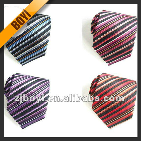All Kinds Of Neckwear Stripe Silk Tie For Sale