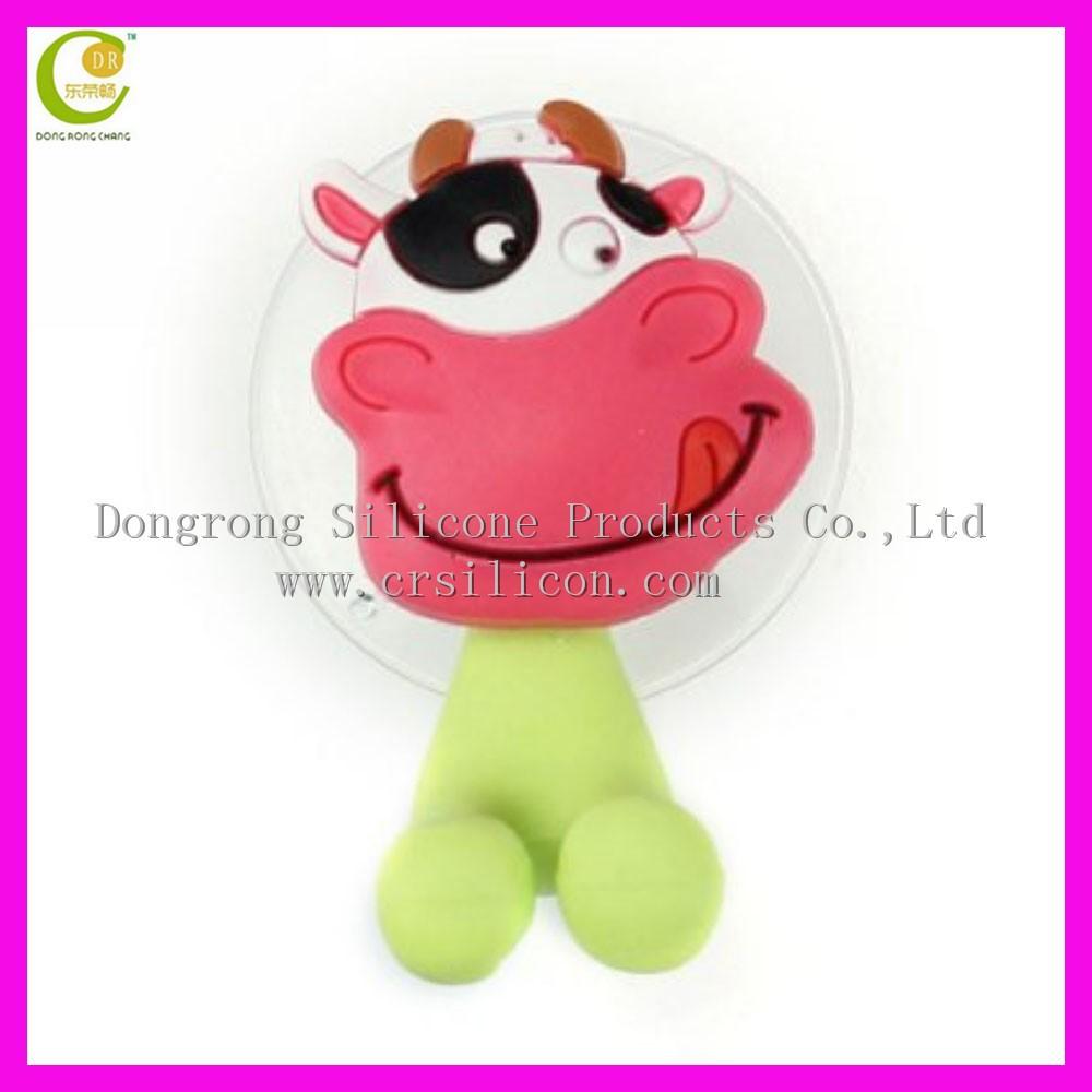 Penjual Yang Baik Pvc Lembut Sikat Gigi Gantungan Dengan Cangkir Tutup Hello Kitty Hisap Pemegang Penutup