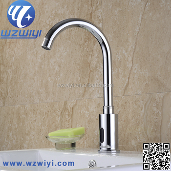 Luxury Brass Wash Basin Mixer, Hot U0026 Cold Water Automatic Faucet, Height  Can Be