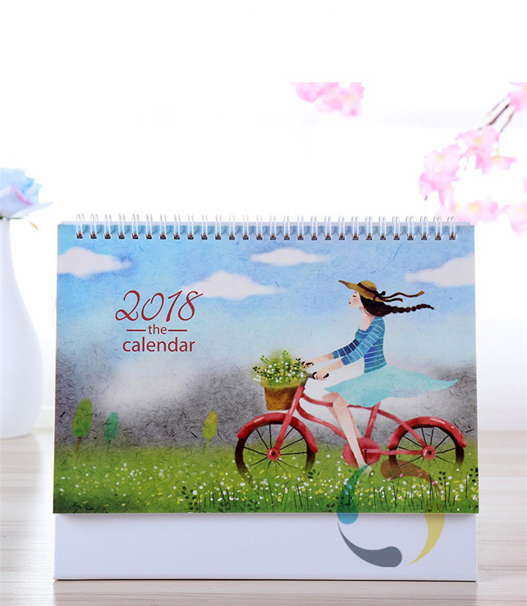 wholesale daily spiral bound tent desk calendar printing