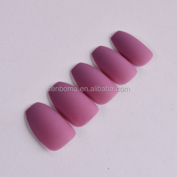 Bonniena High Quality Medium Size Bulk Acrylic Nails With Frosted Effect False Nail Salon