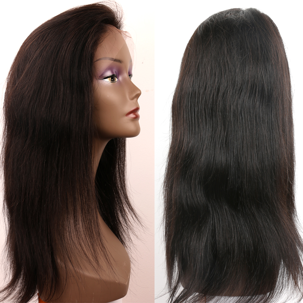 Raw 100% unprocessed human hair lace wig 20inch hair