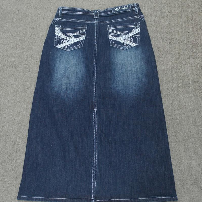 卸売ジーンズスカート女性高品質の綿マキシロングデニムスカート