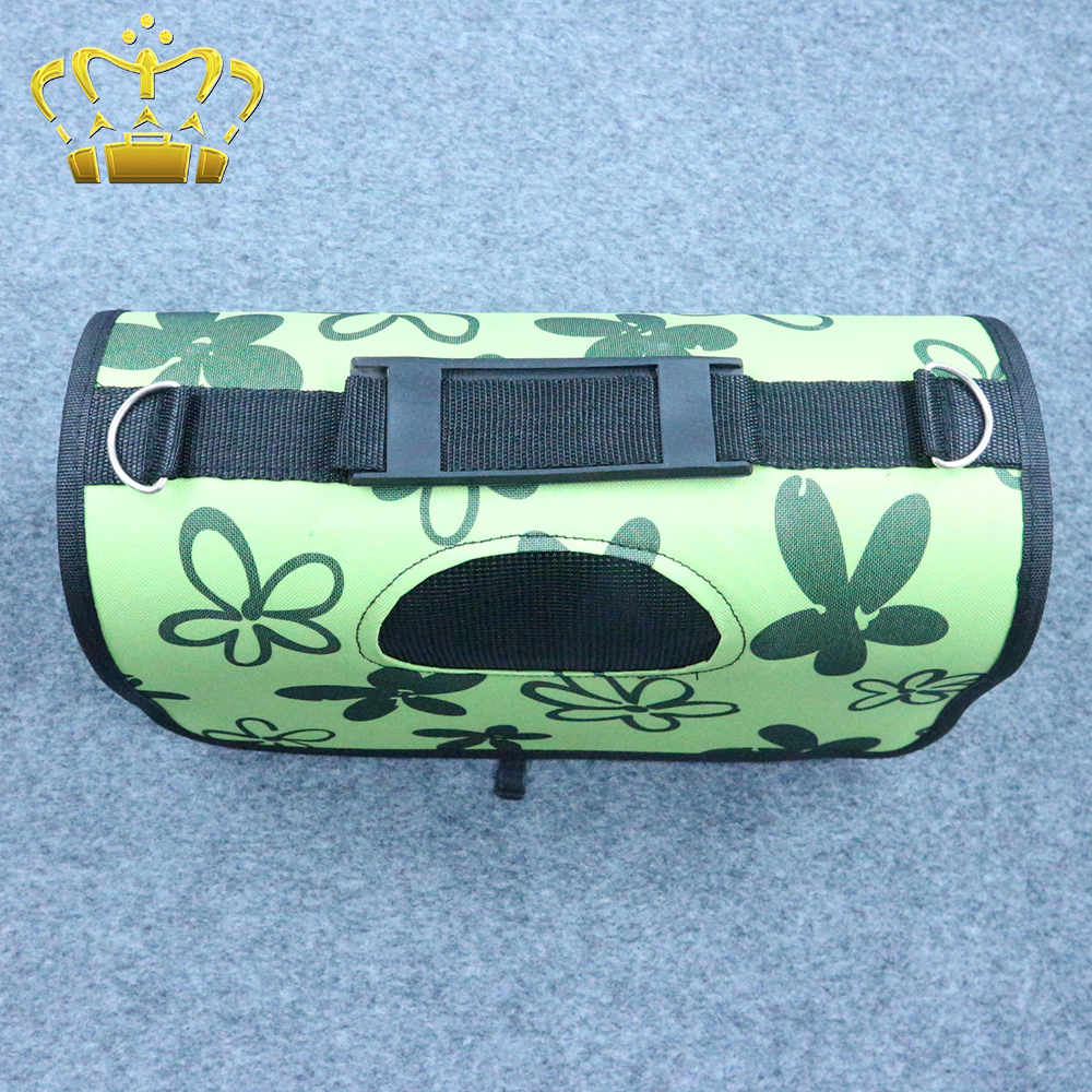 Fashion Lovely Green Flower Delivery Pet Backpack Carrier Tote Dog Bag