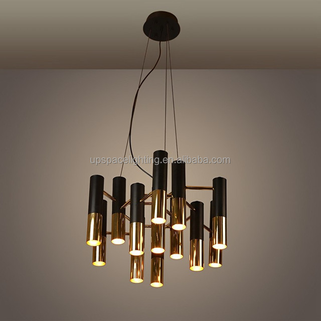Buy cheap china black and gold chandelier products find china black xcp8063 13 modern chandeliers vintage industrial black aluminum gold pendant light ike replica aloadofball Image collections