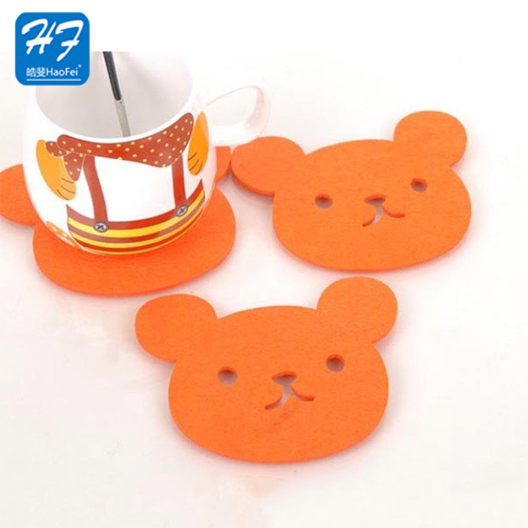 Hot Sale New Design 100% Polyester Felt Customized Professional Factory Supply Felt Coaster