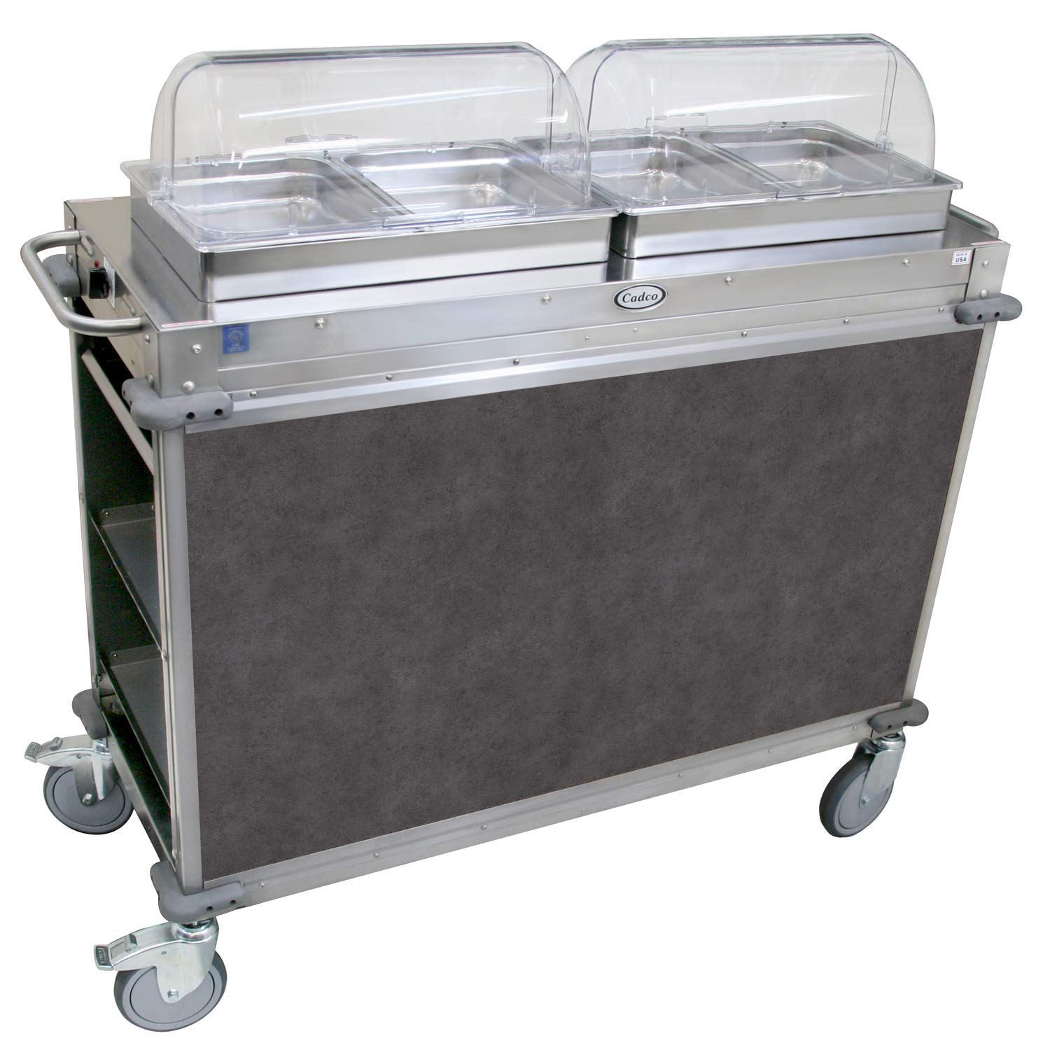 "Mobile Hot Buffet Cart Color: Mission Smoke Grey, Size: 49.5"" H x 52.75"" W x 20.75"" D"