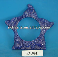funny ceramic photo frame with starfish shape