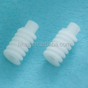 white small plastic worm gears