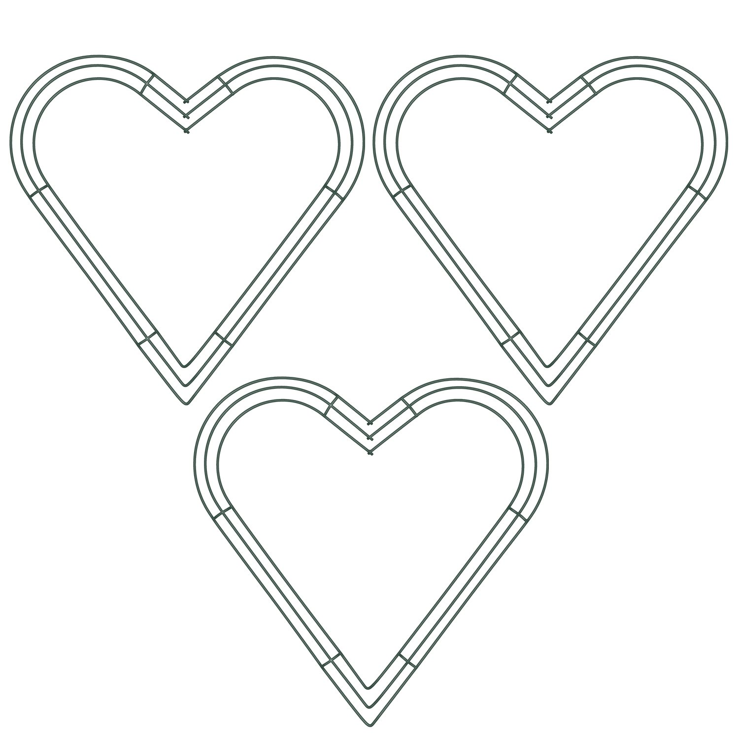 Get Quotations Bememo Heart Shaped Wire Wreath Frame 16 Inch Green Flower Metal Rings For Valentine S Day