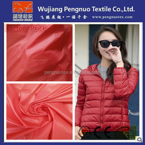[Factory Price]Cheap 100% Nylon Taffeta down proof fabric With Oil Cire/Down coat fabric/Water Proof Fabric