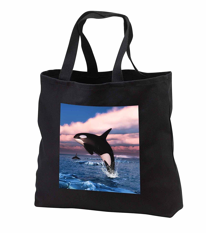 tb_251979 Simone Gatterwe Designs Sea Life - Orca killer whales swimming in the Arctic Ocean - Tote Bags