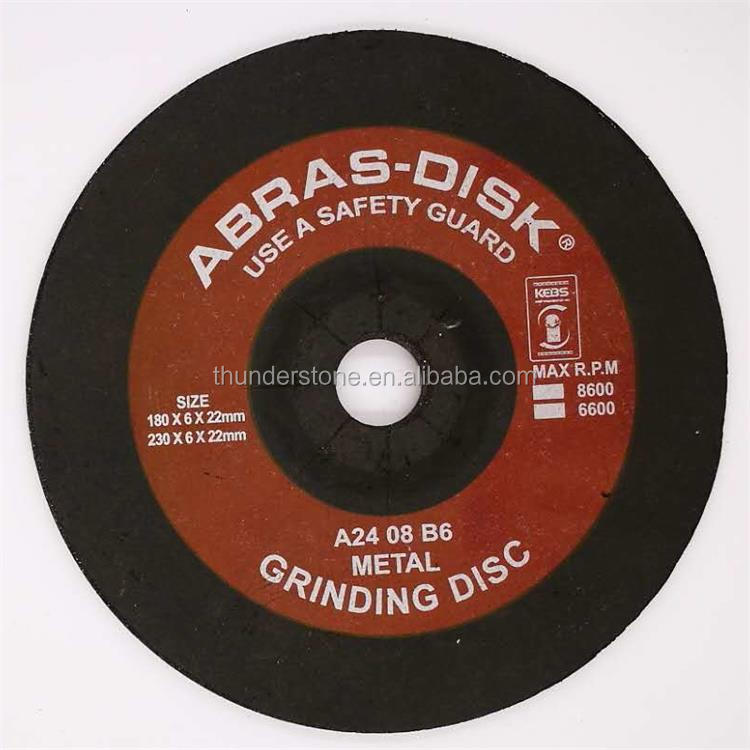 T27 China Manufacturer Sharpness180*6*22mm Abrasive Grinding Wheel For Stainless Steel