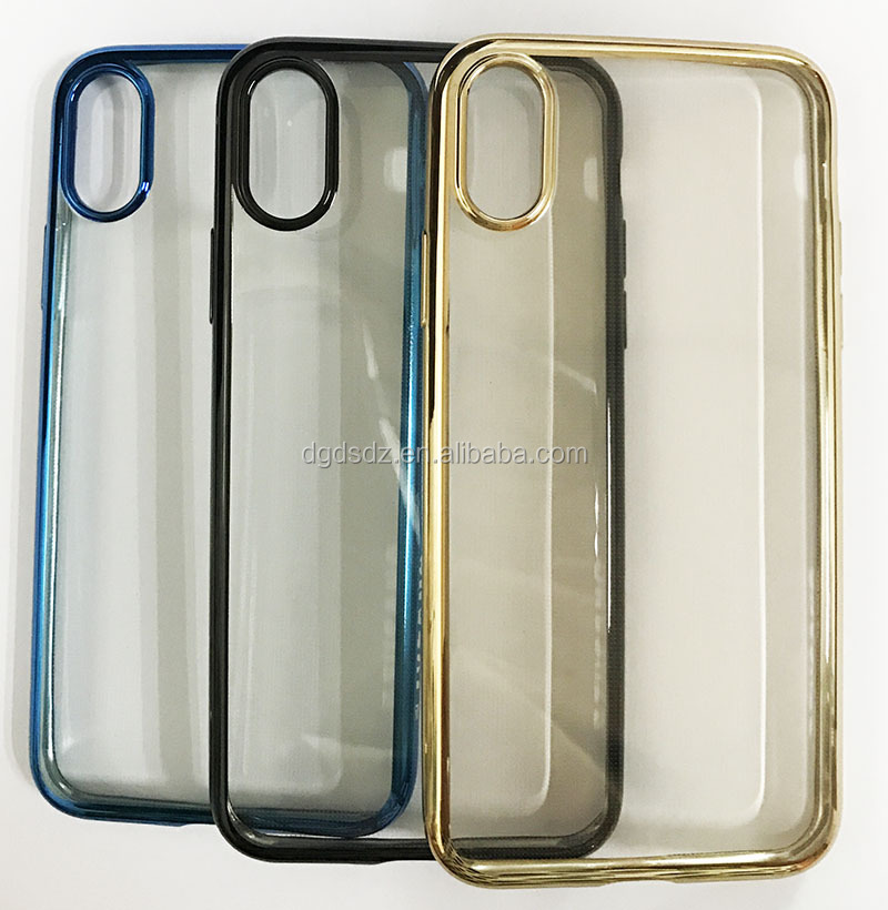 OEM & ODM 10 years of factory TPU clear case for iPhone 8 with electroplating