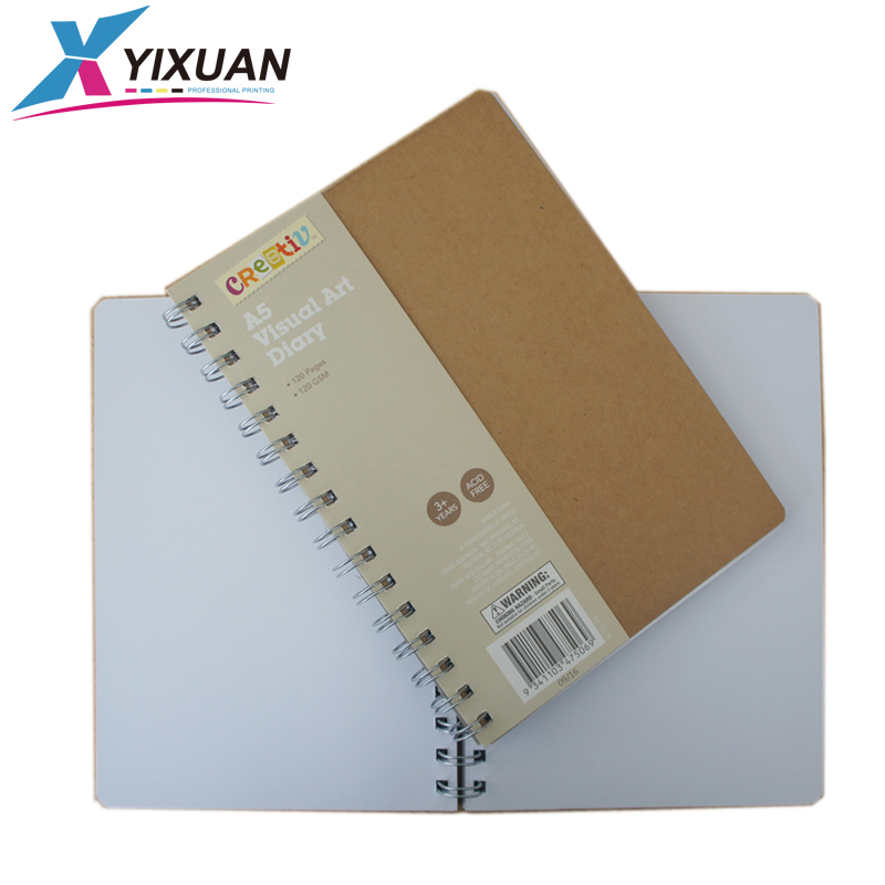 Grosir kustom Kraft notebook kertas A4 spiral notebook