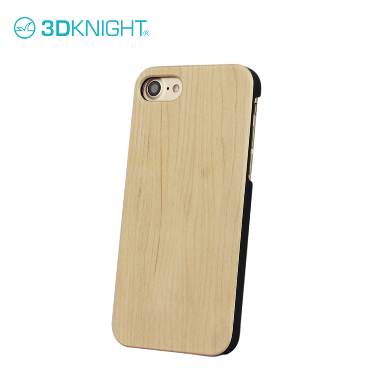 Maple wood case custom small for iphone 8 7 covers with cut logo shell industrial