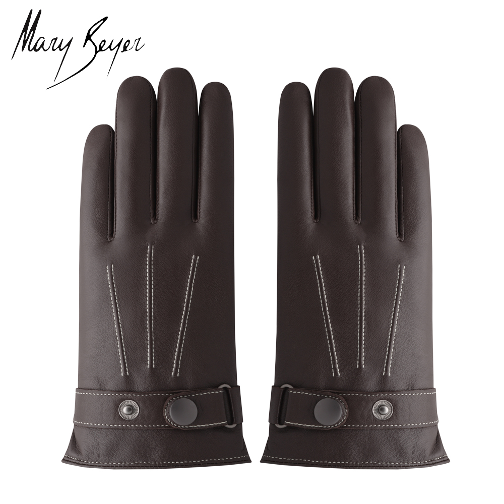 2016 Classical Style Men High-End Winter Fashion Leather Glove