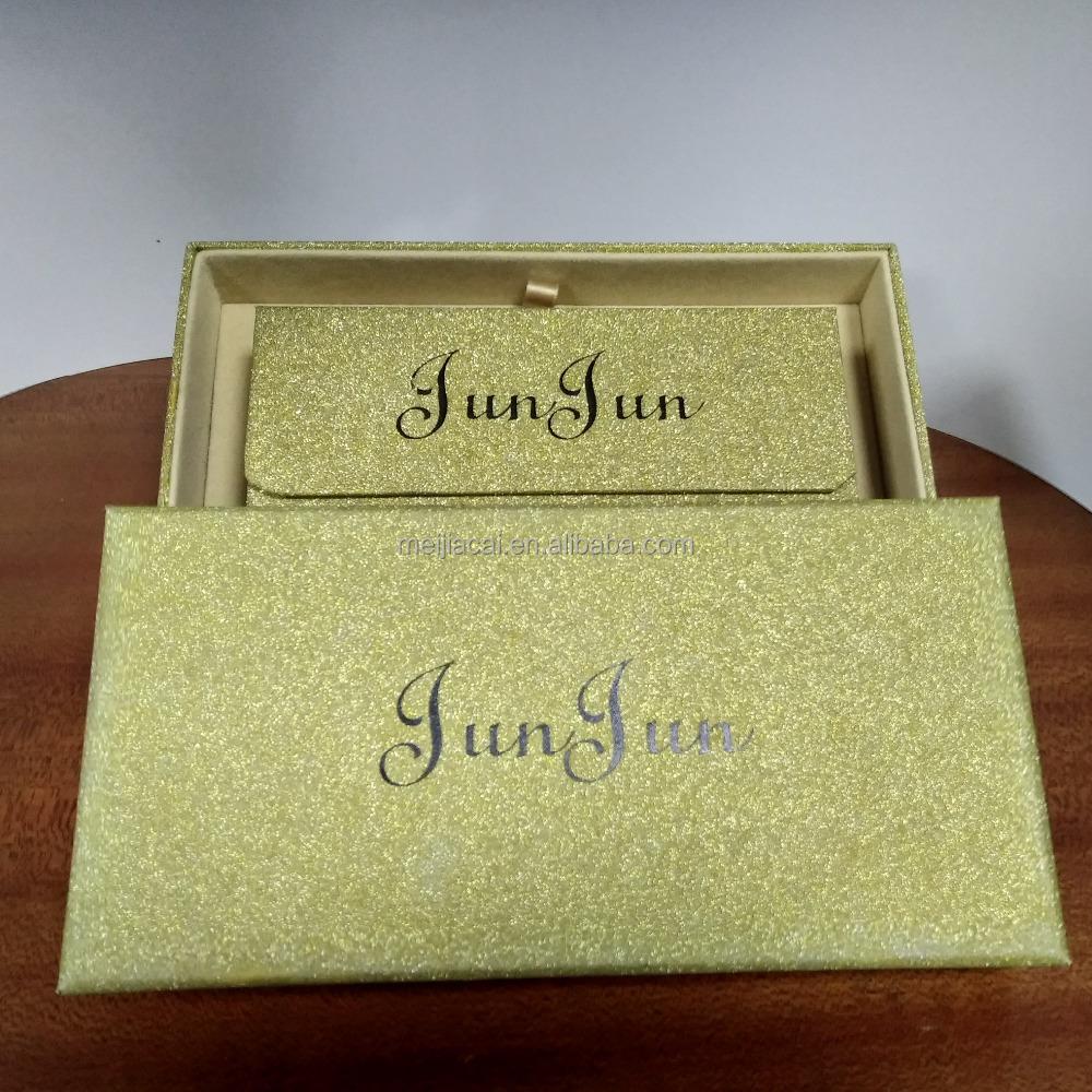 रिबन के साथ foldable उपहार बॉक्स पैकेजिंग बक्से गहने पर्यावरण के अनुकूल कॉस्मेटिक पैकेजिंग
