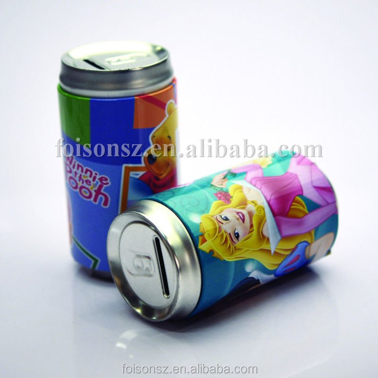 soda can shape money box