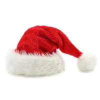 Wholesale High Quality Customized Long Plush Christmas hat
