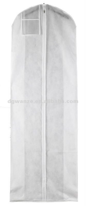 """Bridal Gown Wedding Dress Storage Bag White Breathable 72/"""" Long with 10/"""" Gusset"""