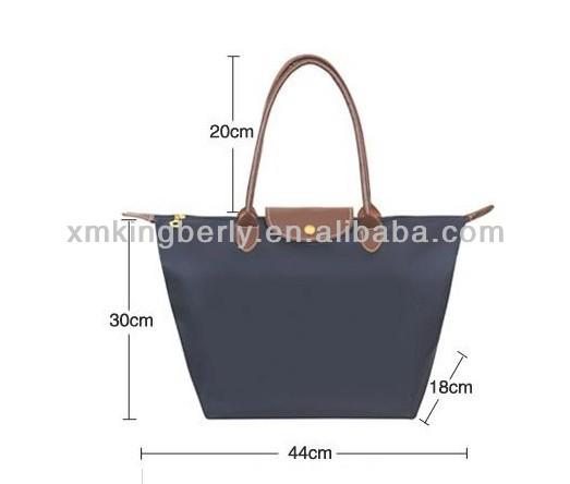 Folding Zipper Nylon Tote Beach Bags, Folding Zipper Nylon Tote ...