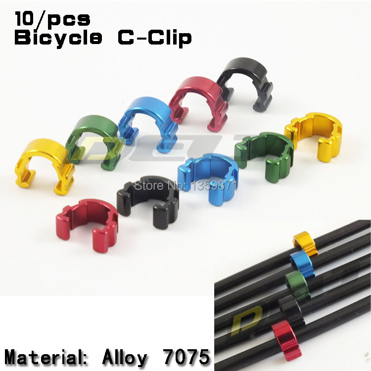 DELT line pipe line pipe C clamp buckle multicolor aluminum brake line  clamp U clamp hooks 10PCS - CyclingBikeStore com