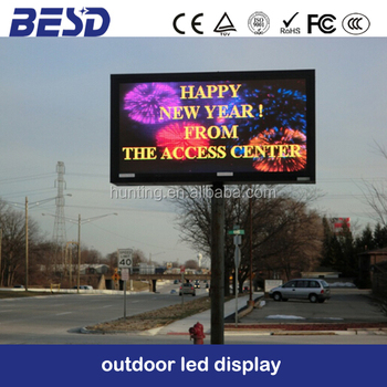 12 square meter p16 outdoor led display billboard