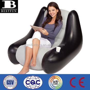 Inflatable Bean Bag Chairs Bulk Plastic Puff Waterproof Sofa