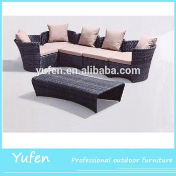 Foshan Pe Rattan Corner Sofa Set Designs