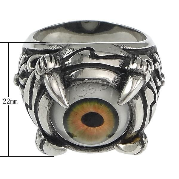 2015 Gets.com stainless steel fashion evil eye ring