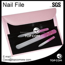 Promotional crystal nail file set with case