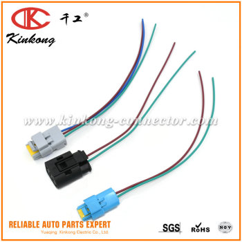 2 pin FCI Auto connector pigtails Electrical Wire harness connector