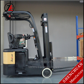 Ac Motor Narriow Aisle Width Three Wheels Mini Electric Forklift - Buy  Forklift,Small Electric Forklift,Narrow Aisle Electric Forklift Product on