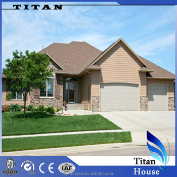 Easy Installation Prefabricated Metal Houses With Garage For Germany ...