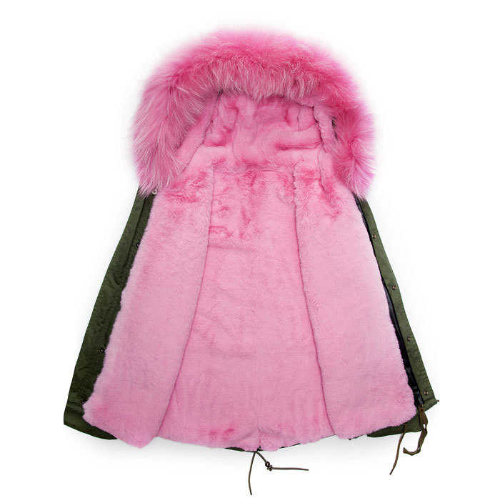 Buy New arrival pink Fashionablea winter male fur parka warm pink ...