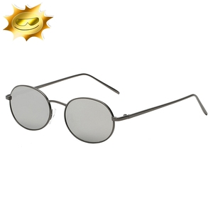 Custom monochrome metal glasses gold frame sunglasses for unisex