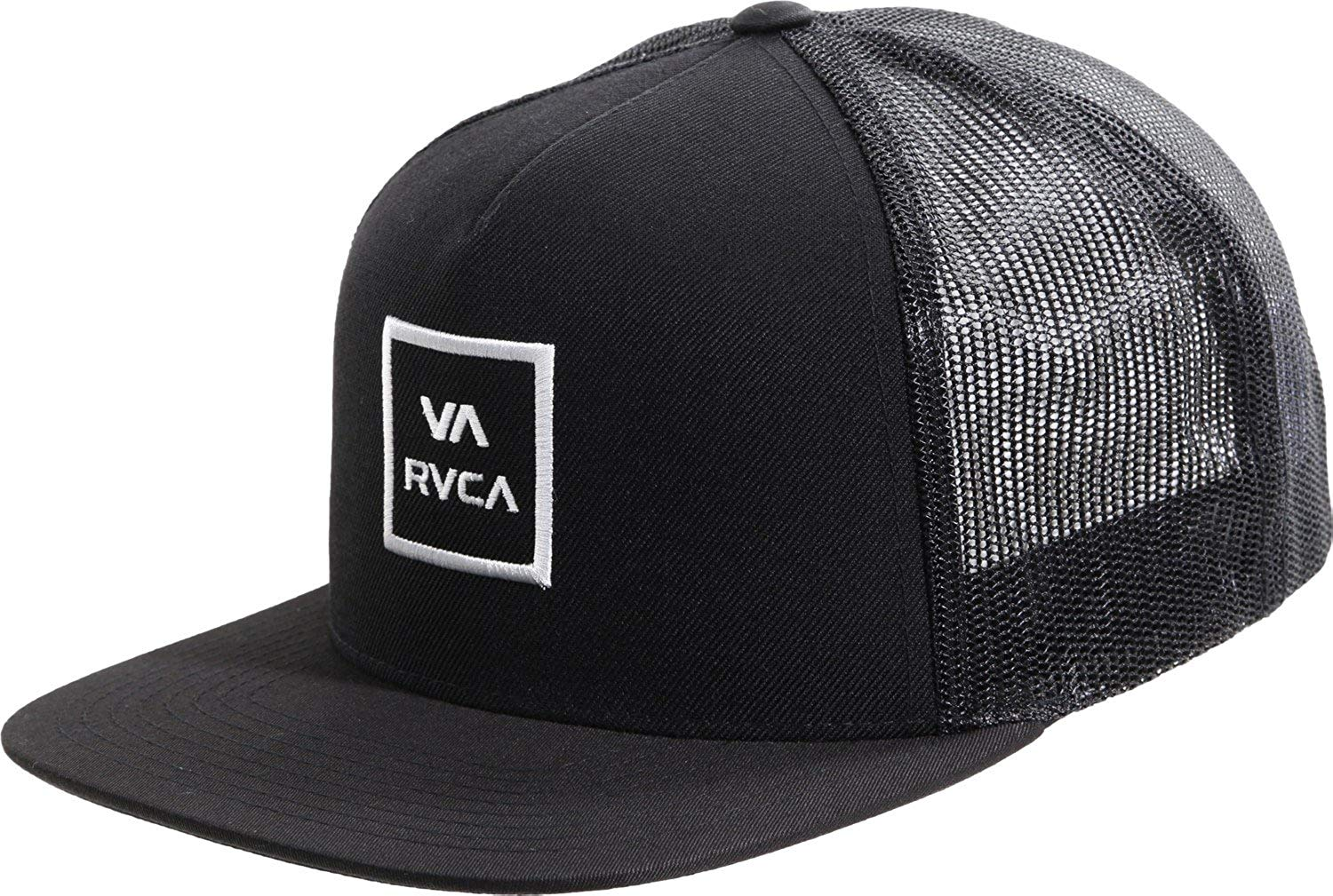 Buy RVCA Mens Barlow Printed Trucker Hat Black One Size in Cheap ... 6d26839f8ad4
