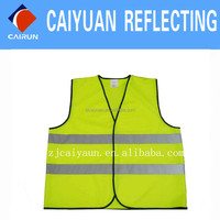 CY 100% Polyester Visibility Vest Safety Safety Yellow Work Wear
