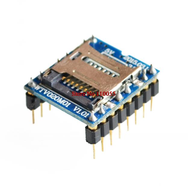5pcs/lot WTV020 WTV020-SD WTV020SD-20SS Mini SD Card MP3 Sound Module For PIC 2560 UNO R3 WTV020-SD-16P wav