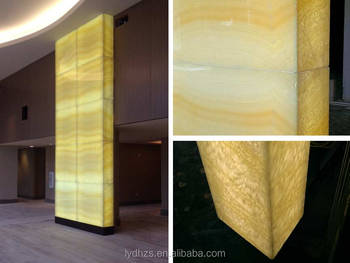 Granite Marble And Onyx Backlighting With Led Strip Lights Backlit Light Panel Reception Desk By Translucent Stone Decorative