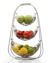 2019 Hot Koop 3-Tier Draad Opknoping Mand/Moderne <span class=keywords><strong>Fruitmand</strong></span>/<span class=keywords><strong>Chroom</strong></span> Metalen Draad Hanger
