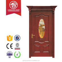 Best seller Solid wood and ground glass interior door bathroom door