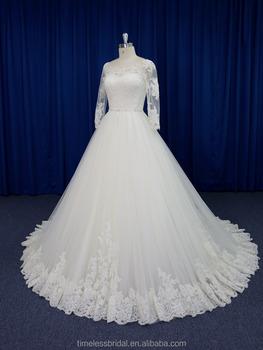 34 Long Sleeves Crystal Belt Fine Lace Puffy Fashion Muslim Wedding Dress Patterns Buy Wedding Dressmuslim Wedding Dresswedding Dress Patterns