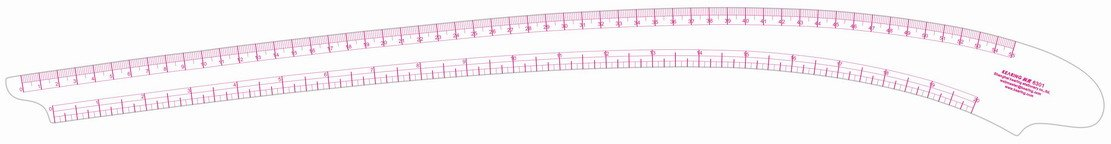 Metric / Inch Scales Vary Form Curve Ruler Soft Plastic Garment Curve Rule Made by Kearing # 6301